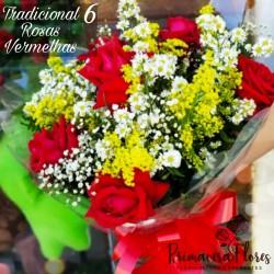 Buquê 6 Rosas Abertas
