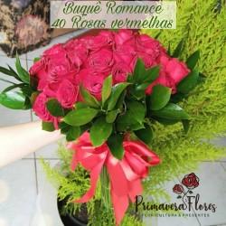 Buquê Romance 40 Rosas Vermelhas