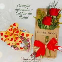 Coração Serenata+ Cartão De Rosas