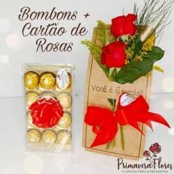 Ferrero Rocher + Cartão de Rosas