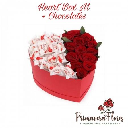 Heart Box M + Chocolates