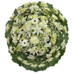 Coroa Flores Brancas Premium