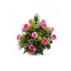 Arranjo De Rosas Rosa