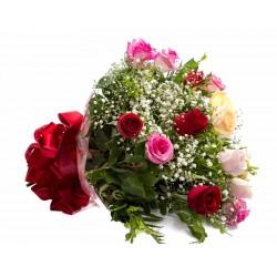 Buquê Simpatia de Rosas Coloridas