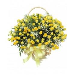 Corbelle Com 180 Rosas Amarelas